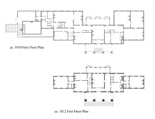 Comparison of the duPont's First Floor Plan with the Madison Family's First Floor Plan