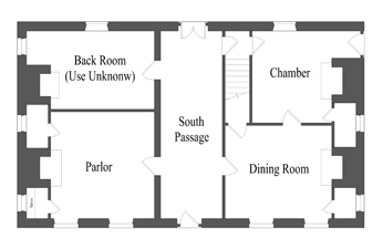 ca. 1764 First Floor Plan