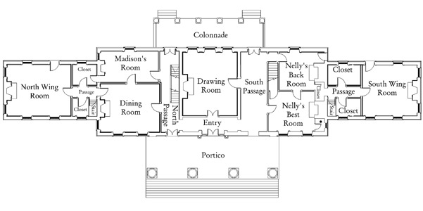 ca. 1812 First Floor Plan